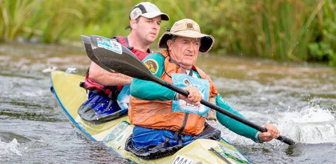 Lyle Wheeler paddles to new Dusi record on a wave of respect